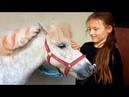 Принц поцеловал Алину, за то что она накормила его бубликами 😘Катаемся с мамой на лошадках 🐎🦄🦓