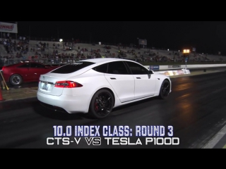 Tesla P100D vs. muscle cars