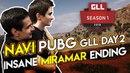 NAVI PUBG GLL Day 2 - Insane Miramar ending