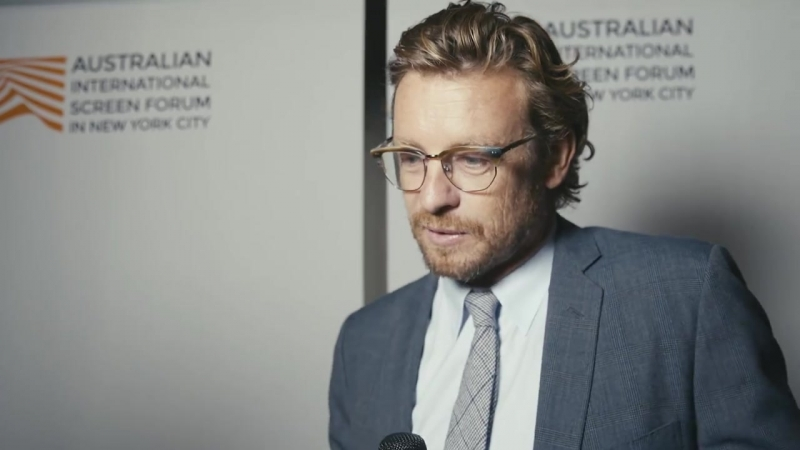 Simon Baker interview at Australian Screen Forum at Lincoln Center