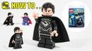 HOW TO MAKE A LEGO BLACK SUIT SUPERMAN COMIC CON MINIFIGURE!