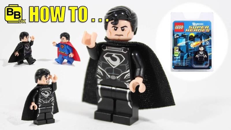HOW TO MAKE A LEGO BLACK SUIT SUPERMAN COMIC CON MINIFIGURE!