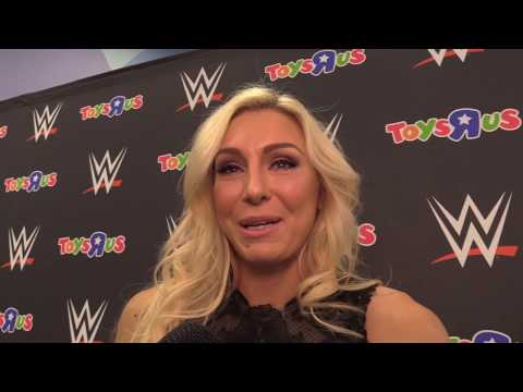 Fans meet WWE Superstar Charlotte Flair at Toys R Us