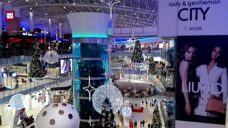 Торговый центр Авиапарк в предновогодние дни