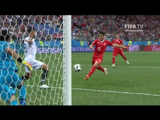 Blerim dzemaili goal - switzerland v costa rica - match 42