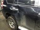 Наши работы по Toyota Land Cruiser Prado 150 продолжение 1 : Кузовные работы по задней правой двери, верхней правой стойки, переднего правого крыла, капота. Покраска задней правой двери, верхней правой стойки, переднего правого крыла и капота.