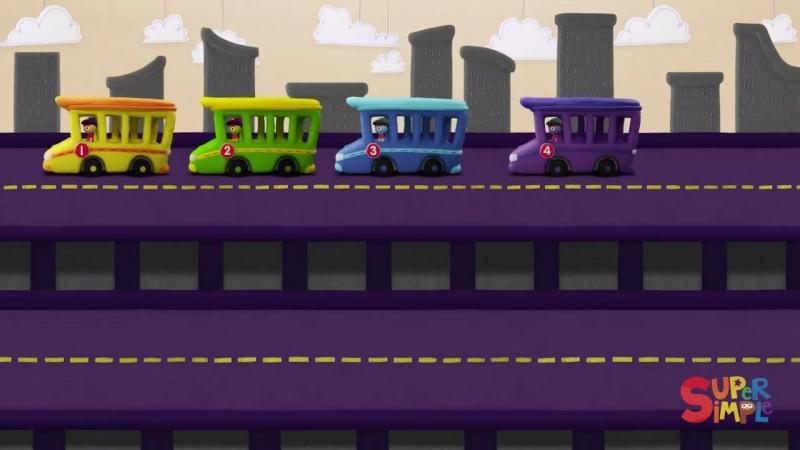 10 Little Buses - Kids Songs - Super Simple Songs