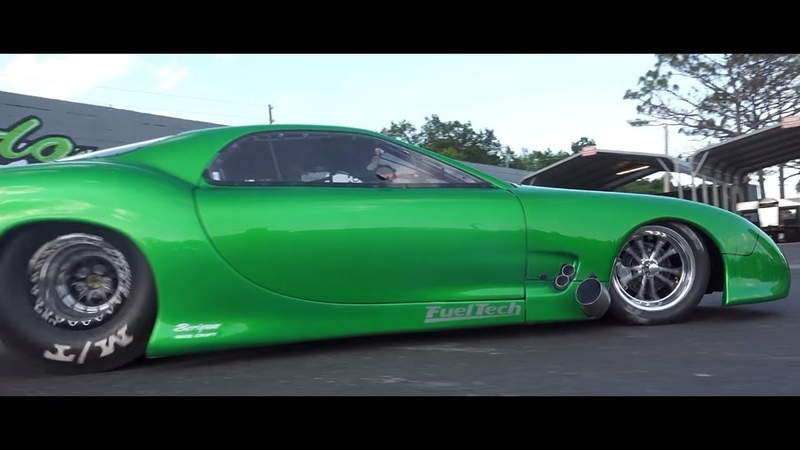 GREEN MONSTER ON STEROIDS MAZDA RX7