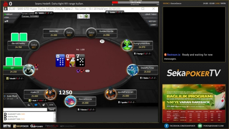 Sekapoker TV - Goccgocce On air - GErçek Paralı Poker ve GG Network MTT