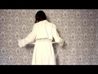 Talever fashion white coat!