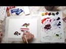 Speed painting из видео урока рисования акварелью Тортик с ягодами от Нины Петровской