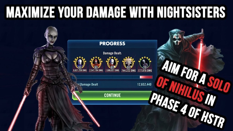 [EN] MASTER NIGHTSISTERS AND LEARN HOW TO SOLO NIHILUS IN PHASE 4 OF THE HEROIC SITH RAID