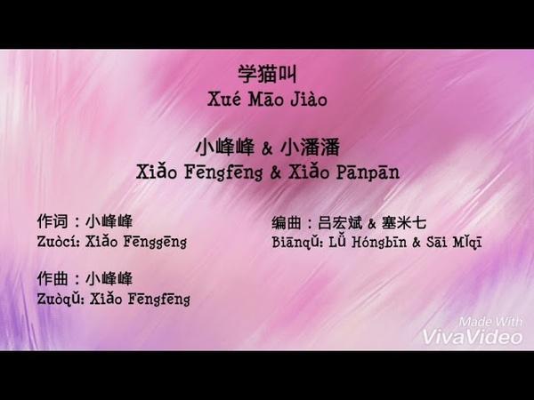 Xue Mao Jiao 学猫叫 Xiao Panpan 小潘潘 Xiao Fengfeng 小峰峰 Tik Tok 斗音神曲 Pinyin Lyric 拼音歌词