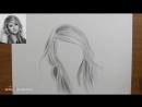 [Азбука Рисования] Как рисовать (нарисовать) волосы карандашом - обучающий урок.