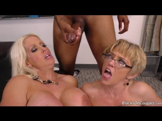 Two mature the teacher  alura jenson & dee williams got in the ass of a young black man