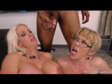 Two mature the teacher  Alura Jenson &amp Dee Williams got in the ass of a young black man