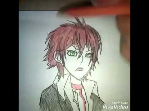 Drawing anime Diabolik lovers wiht girl
