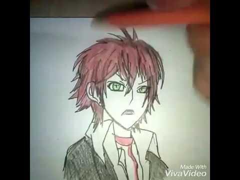 Drawing anime Diabolik lovers wiht girl