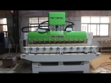 France NK280 Ncstudio 4 axis High class Multi-heads 3D Woodworking CNC Router Machine with Multi-Rotary axis