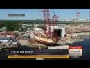 Уникальный подарок к 315 летию в Петербурге спустили на воду копию петровской Полтавы