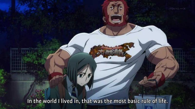 Fate/Zero - Iskandar's pep talk to Waver