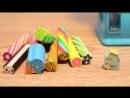 CUTIE STIX - Режем ластик [ mini-asmr, ASMR, toy, stopmotion animation ]