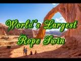 ? СЛАБОНЕРВНЫМ НЕ СМОТРЕТЬ ? Worlds Largest Rope Swing-Самый большой в мире канатный свинг✈?☀