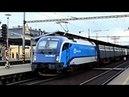 ČD railjet livery ÖBB Taurus 1216.249 with freight train