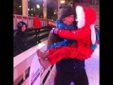 Алексей Воробьев:Маленькая принцесса у меня на руках в первый раз в жизни каталась на коньках и сказала что ей очень понравилось
