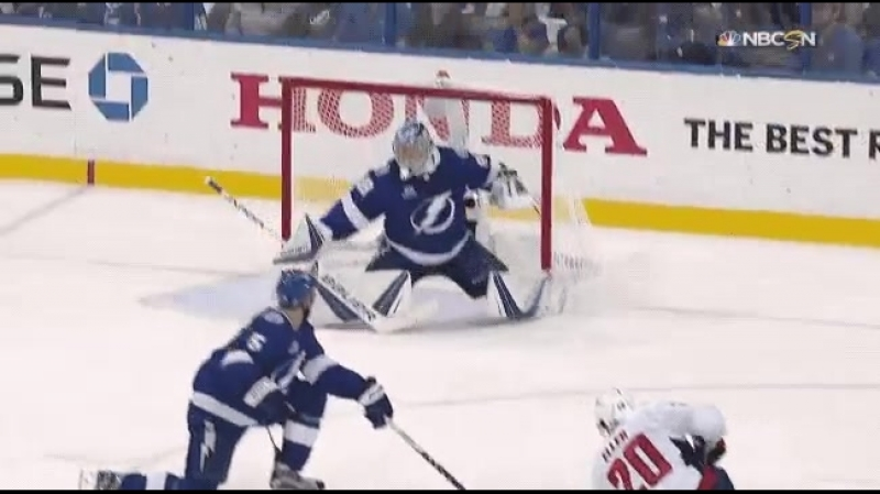 Vasilevskiy makes a toe save