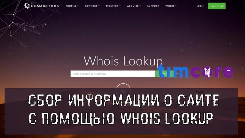 Сбор информации о сайте с помощью Whois Lookup | Timcore