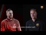 Интервью Тер Стегена и Облака перед матчем Барселона – Атлетико