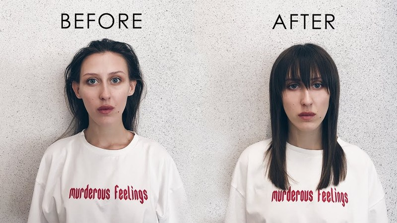 Easy haircut with uneasy fringe