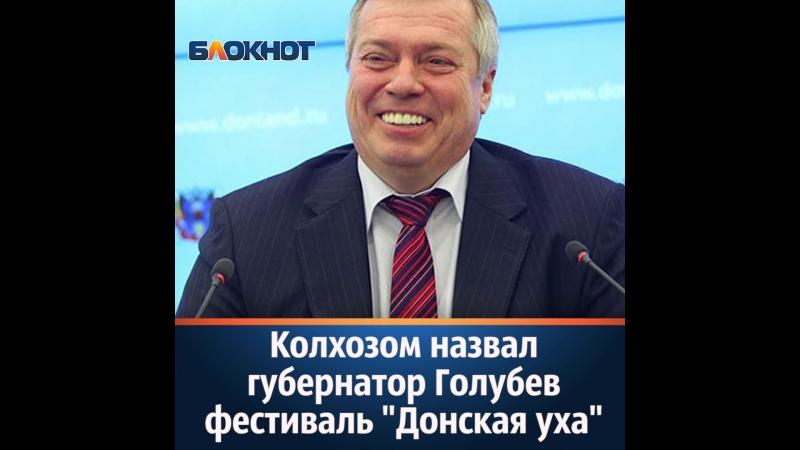 Колхозом назвал губернатор Голубев фестиваль «Донская уха»
