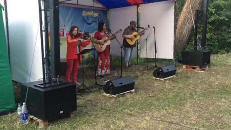 Ансамбль Малинада на Грушинском фестивале 10 августа 2018 Соперницы Степ ветер обрезан