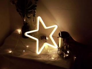 Неоновая лампа для подарка, дома, фотосъемок, салонов и кафе