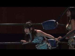 Hikari, Raku vs. Hinano, Miu (DDT - Battle of Nagano)