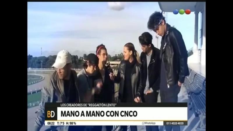 CNCO entrevista en Argentina. ¿Qué les parecen las fans argentinas؟ ¿Qué tiene Reggaetón Lento؟