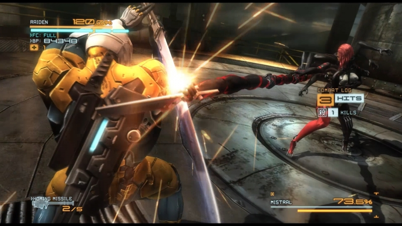 Metal Gear Rising: Reveangence. No damage, only S Rank. Boss ( Mistral) part 2