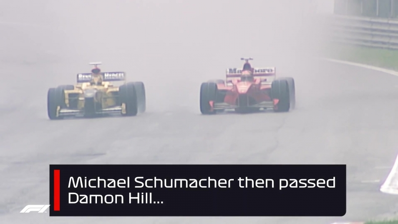 Schumacher and Coulthards Belgian Bust-up (Ф-1, ГП Бельгии 1998)