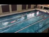 Первые пловцы в новом бассейне - наши инструктора!