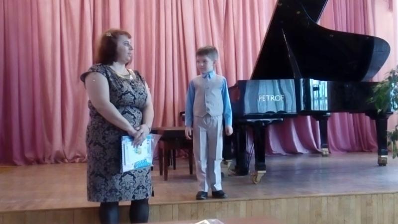Наш первый отчетный концерт в музыкальной школе