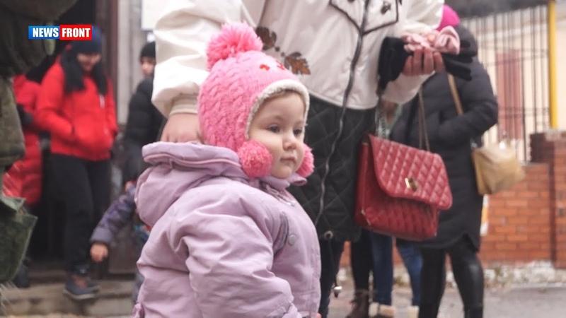 Семьям погибших военнослужащих НМ Горловки привезли гуманитарную помощь