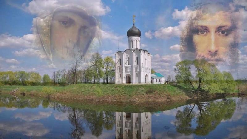 Красивые православные образы над храмом / Beautiful images of the Orthodox temple