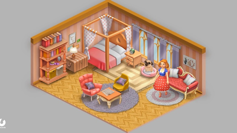 Cartoon Room in style of Matchington Mansion