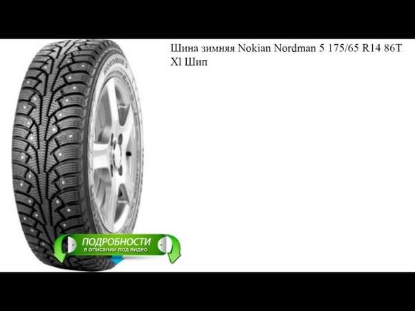 Шина зимняя Nokian Nordman 5 175/65 R14 86T Xl Шип