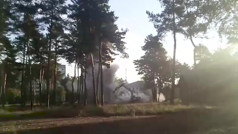 Водонапорную башню возле автостанции снесли