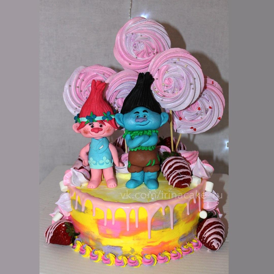"""Детский торт """"Тролли"""" (Арт. 86)"""