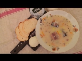 Быстрый рецепт сырного супа с рыбой!