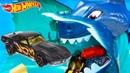 Игровой набор Хот Вилс машинки против акулы